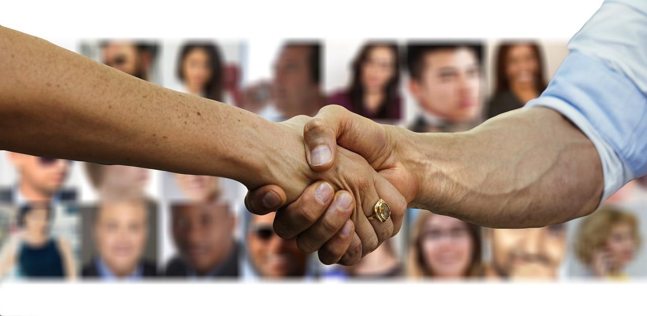 ondernemers ontmoeten elkaar